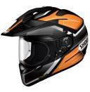 Shoei Hornet X2 Black, White and Orange Seeker TC-8