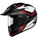 Shoei Hornet X2 Red, White and Black Seeker TC-1