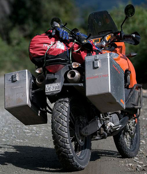 Fully loaded Adventure Bike