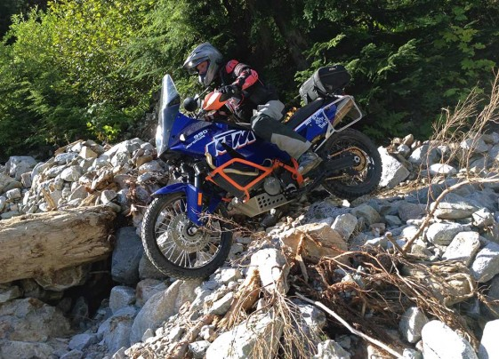 KTM 990 Adventure on Steep HIll