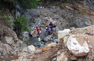 Riding extreme trails on big Adventure Bikes