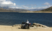 Adventure Rider enjoys the veiw at Lake Isabella