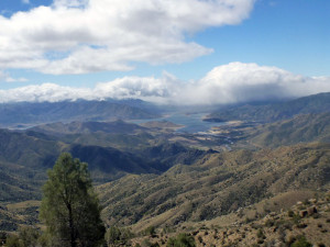 The view from Sequoia National Forest of Lake Isabella