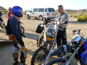 Making new friends at Jawbone Canyon