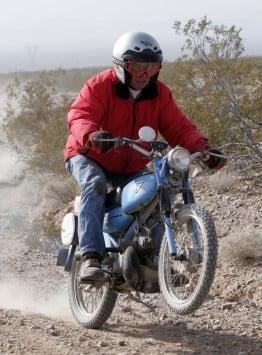 Robert Koch riding his 1964 Tohatsu 50cc Trail Master