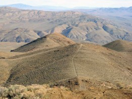Jeep trail through the desert near Garlock, CA