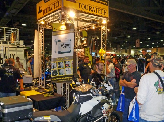 Touratech Booth at the Progressive International Motorcycle Show
