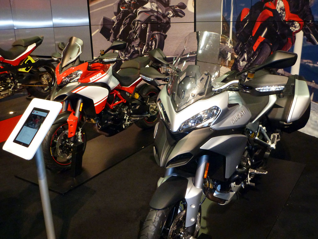 Ducati Multistradas at the Progressive International Motorcycle Show