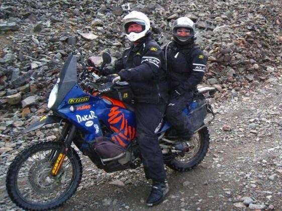 Matt rides fast while Kelly is brave riding pillion