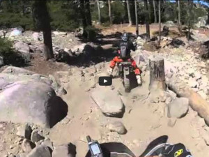 Riding through the rocks on the Rubicon Trail.