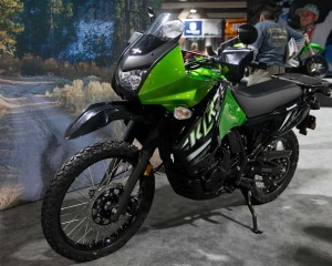 Kawasaki KLR650 at the Progressive Motorcycle Show of Long Beach
