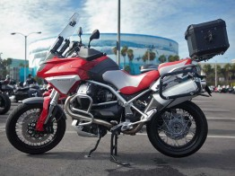 Moto Guzzi Stelvio at the Progressive Motorcycle Show of Long Beach