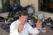 Claudio von Planta with thumbs up