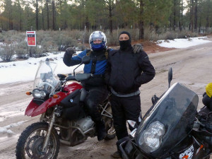 Snow on our Mexico ride