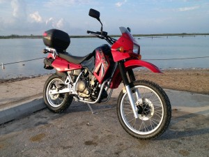 Red Kawasaki KLR650 KLRsys