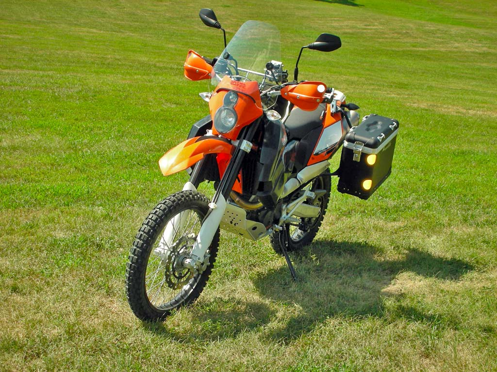 e5d01bc2894 Adventure Bikes are customized to improve performance and comfort for the  owner. (photo courtesy