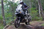 R1200GS Adventure log jump