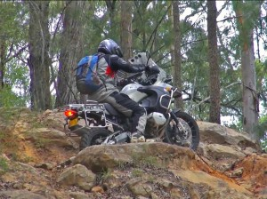 BMW R1200GS in Rocks hillclimb