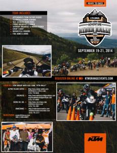KTM Adventure Rider Rally Event Flyer 2014