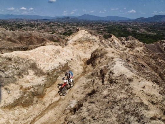 Climbing up the high plateau in Madagascar