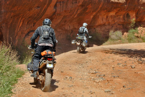 Exploring the red rock cliffs in Sedona with a RawHyde riding instructor.