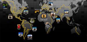 Alex Chacón World Tour Map