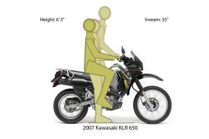 KLR 650 Ergos riding positions
