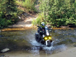Water crossing on the Idaho Backcountry Discovery Route