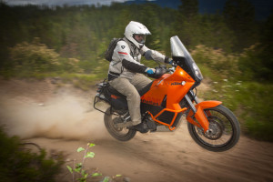 KTM 990 Adventure Jumping at the Touratech Rally