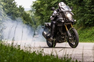 New V-Strom Unleashed burnout