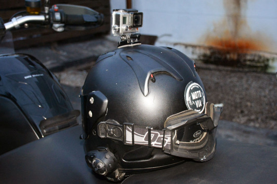 backward mounted helmet cam