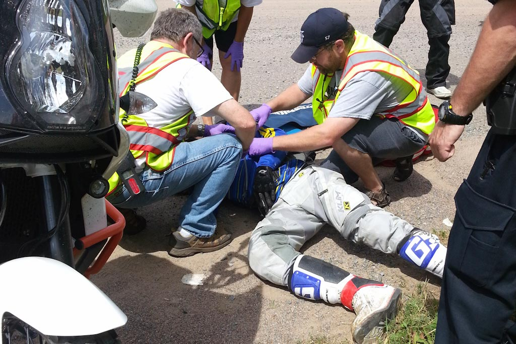 First Aid Assistance to Rider