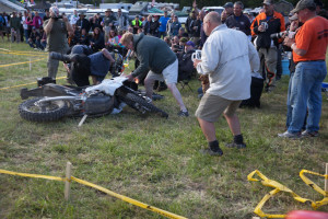 Bikes fly into the crowd touratech rally