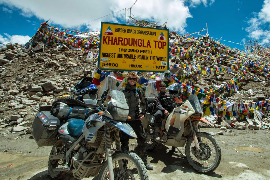 Reaching the top of Khardungla Pass - World's Highest Road