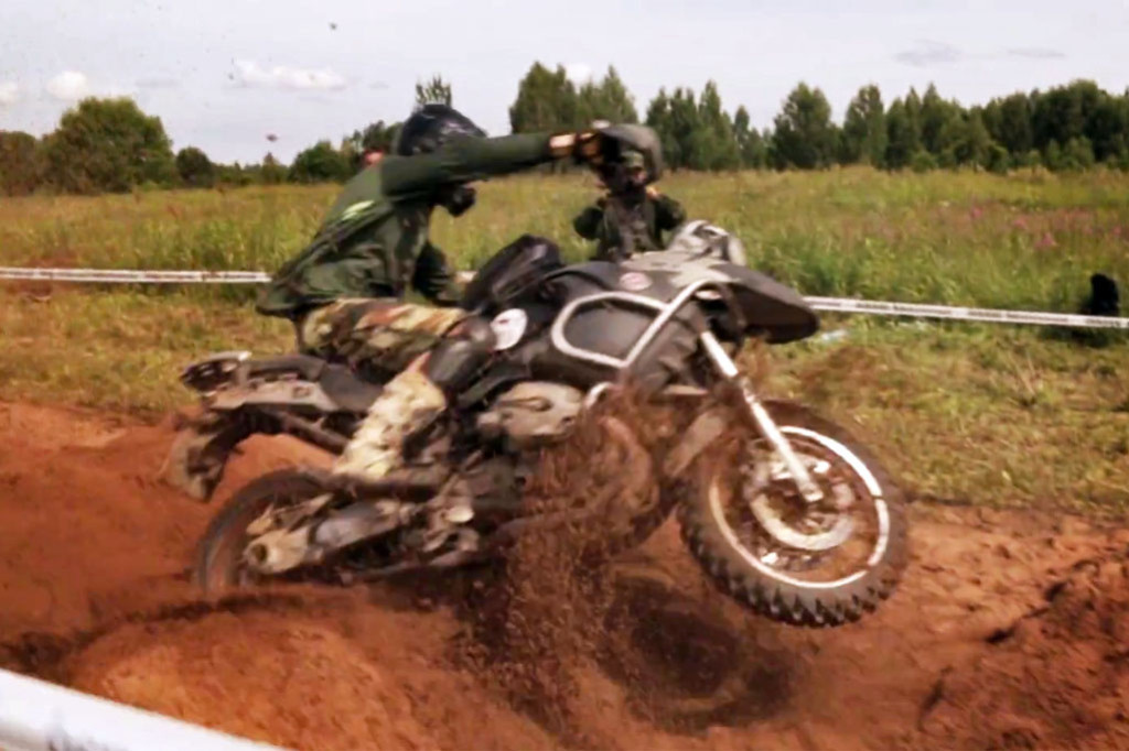 Sandpit on a BMW R1200GS Adventure