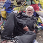 Simon Gandolfi resting on top of Himalayan Pass