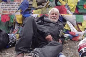 Simon Gandolfi resting on top of Himalayan Pass