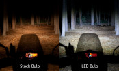LED headlight bulbs brightness comparison
