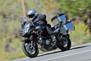 2015 Suzuki V-Strom 650 on the road