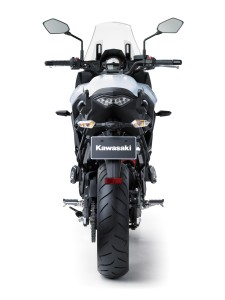 Rear view of the 2015 Kawasaki Versys 650