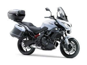 2015 Kawasaki Versys 650 in white.