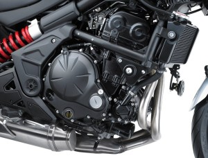 The Versys 650 gets more power from the 645cc inline twin cylinder engine.