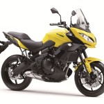 2015 Kawasaki Versys 650 in yellow.