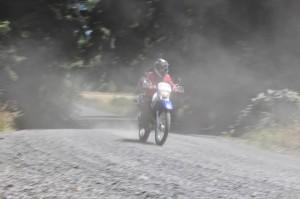 Kyra Sacdalan rides off-road