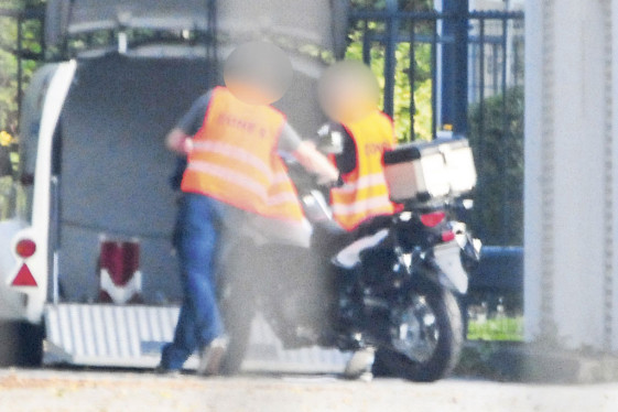 2015 Suzuki DL650 V-Strom spy photo loading into van