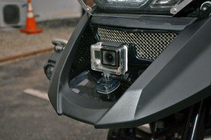 Fender Mounted GoPro for filming moto videos on your BMW R1200GS