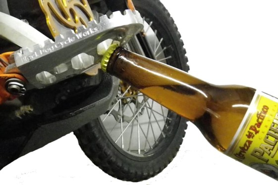 Black Dog Cycle Works Footpegs with Bottle Opener.