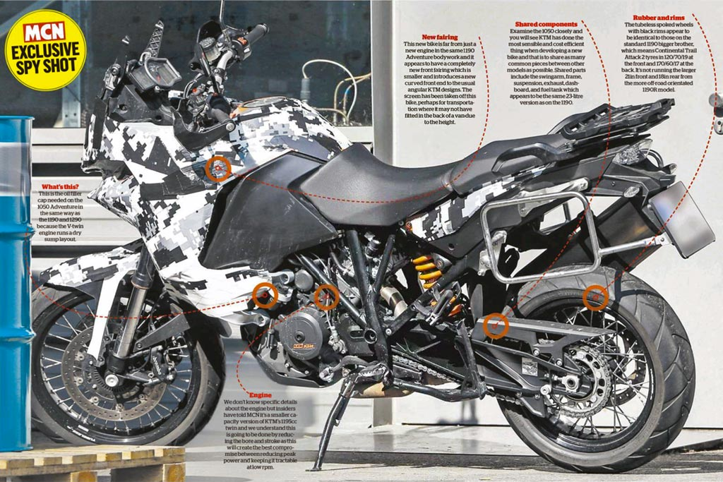 KTM 1050 Adventure spy photo