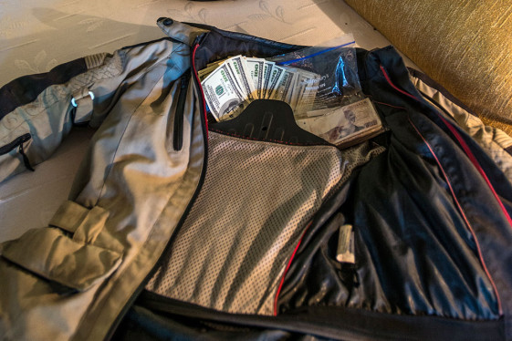 safely hide your money in your jacket back plate pocket.