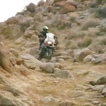 Challenging terrain riding through Death Valley